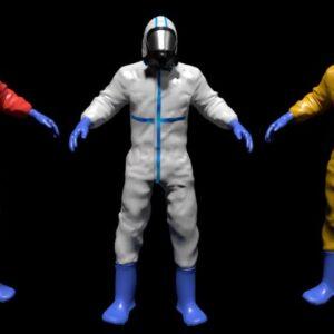 Hazmat suit 3d model