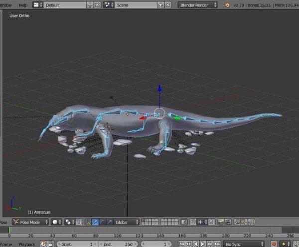 Komodo dragon 3d model