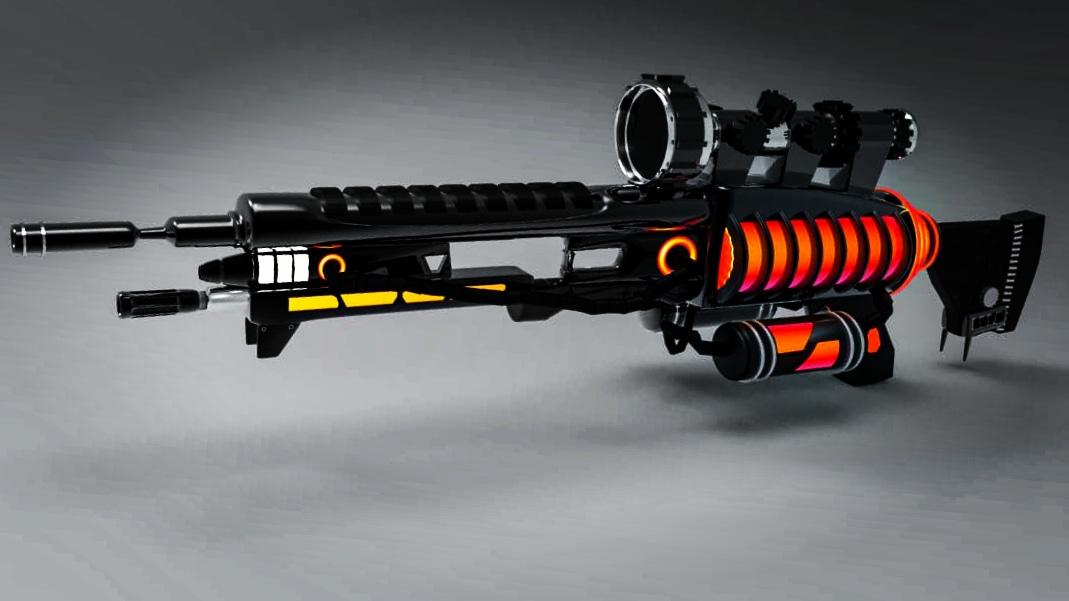 scifi-gun-3d-model
