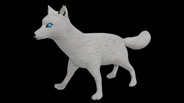 arctic white fox 3d model