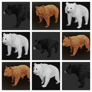 bear collection 3d model