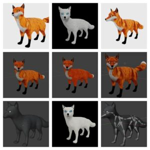 fox collection 3d model