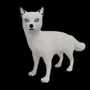 white arctic fox 3d model