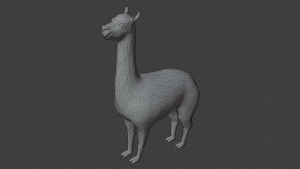 Llama 3d model